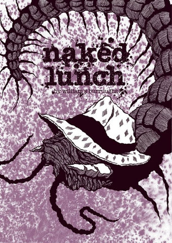 Naked,Lunch,(WIlliam,Burroughs,Book,Cover,by,Mr,Hass),A2,Screen-Print,Art,Illustration,Print,Poster,Screen,Design,Column_Arts_Agency,Mr_Hass,Hassan_Torossian,William_Burroughs,Ink,Paper,Fabriano,Rosapina