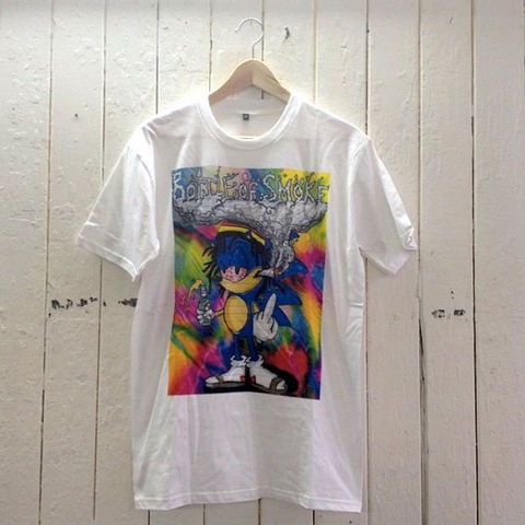 Blue,Label,T-Shirt,(Stoned,Sonic,The,Hedgehog,by,Bottle,Of,Smoke),Clothing,Tshirt,Art,Weed,Splif,Rasta,Illustration,Print,Bottle_Of_Smoke,Cotton,Design,T_Shirt,Liquid,Ink,Digital