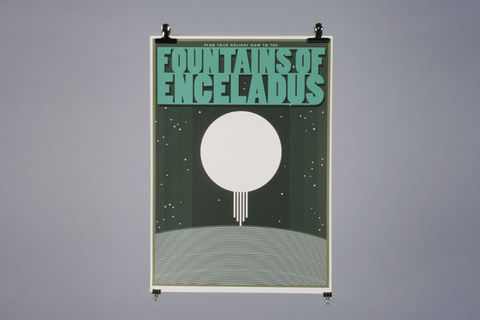 Fountains,Of,Enceldus,by,Catherine,Chialton, Chialton, Illustration, Design, Graphic, Print, Poster, Rocket, Planet, Space, Science, Art, Artist, Arts, Agency, Shop, Column, London, Manchester, Birmingham
