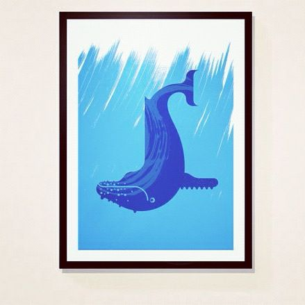 Whale,by,Alan,Dalby,(print),Art, Illustration, Print, Book, Whale, Alan, Dalby, Design, Paper, Giclee