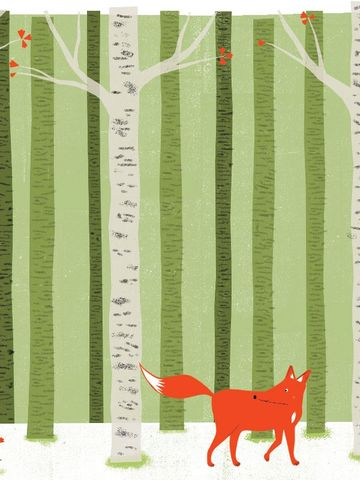 A,Foxes,Tail,4,by,Nicholas,Saunders,(5,Layer,Screen,Print),Nick, Nicholas, Saunders, Artist, Illustrator, Foxes, Tail, Allotment, Series, Screen, Print, Illustration, Art, Shop, Sale, Manchester, Column, Arts, Agency, Birmingham, London