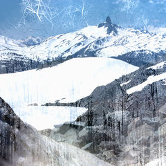 Black,Tusk,Mountain,-,16x20,inches,winter art, fine art print, landscape art, impressionism, vancouver artist, whistler art, art on line, fine art, art work, art fine art, fine art artists, arts sales