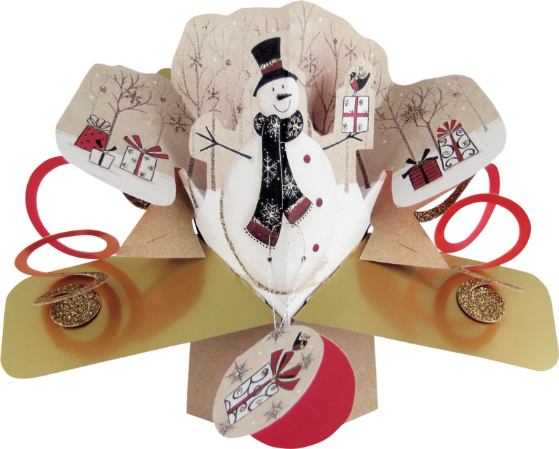Second Nature Xmas Pop Ups - Snowman - product images