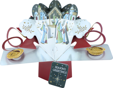 Second,Nature,Xmas,Pop,Ups,-,Nativity,3,Wise,Men,Second Nature Pop Ups, Original Pop-ups, Pop up greeting card, Pop up, Pop-up, Pop-ups, Christmas Pop Up, Xmas Pop Up, Nativity, Wise Men, Religious