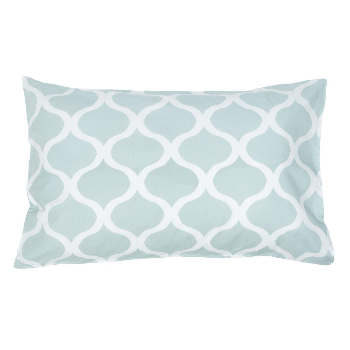 Uma Blue Pillow Cases Set Of 2 Allem Studio