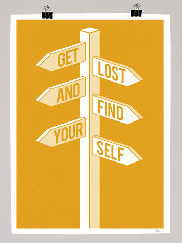 Get,Lost,&amp;,Find,Yourself,dale, edwin, murray, print, buy, limited, edition, art, illustrator, graphic artist, get lost and find yourself