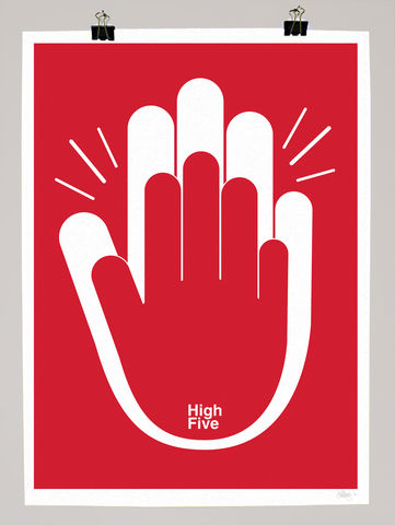 High,5,dale, edwin, murray, print, buy, high 5, five, limited, edition, art, illustrator, graphic artist