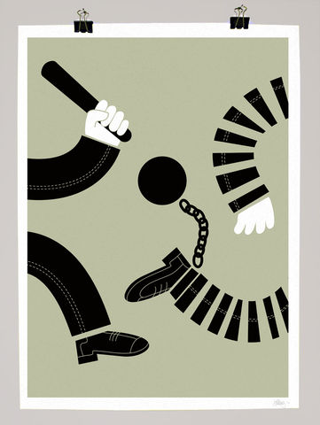 Crime,&,Punishment,dale, edwin, murray, print, buy, limited, edition, art, illustrator, graphic artist, crime, punishment, cops, robbers