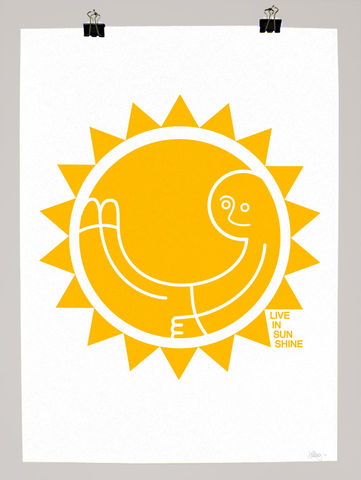 Live,In,Sunshine,dale, edwin, murray, print, buy, limited, edition, art, illustrator, graphic artist, live in sunshine