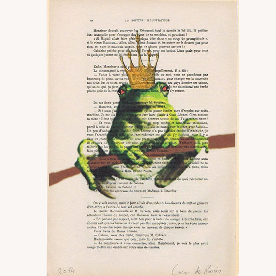 King Frog - Hand Painting Mixed Media Artwork - product images  of