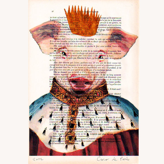 The Pig King - Hand Painting Mixed Media Artwork - product images  of