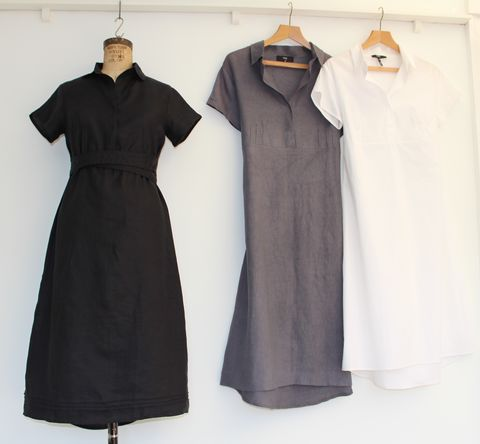 Crew,Shirt dress, cotton dress, A-line dress, linen dress, summer dress, work dress, Classic, vintage style, Audrey Hepburn dress, little black dress, LBD, workwear, cocktail dress, occassion wear, Voy