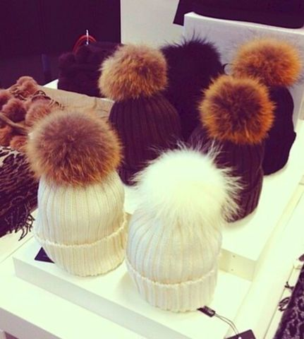 Fluffy,Luxe,Pom,Beanie