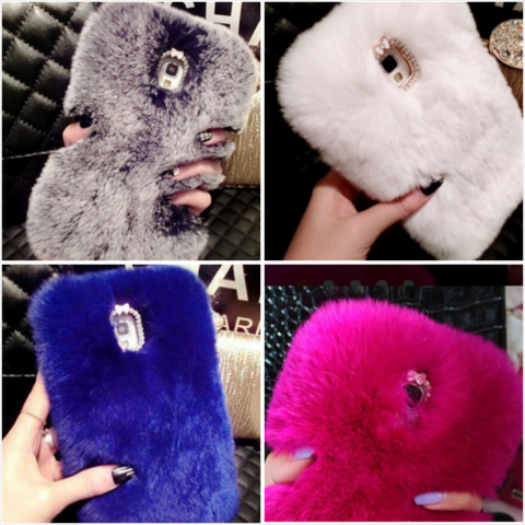 Glam,Fluffy,Case,for,Samsung,Galaxy