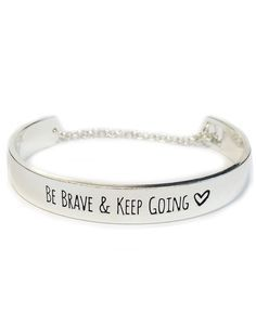 Be,Brave,Message,Bracelet