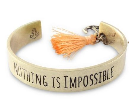 Nothing,is,Impossible,Bracelet