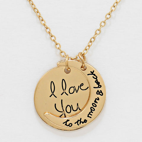 Love,you,to,the,moon,Necklace