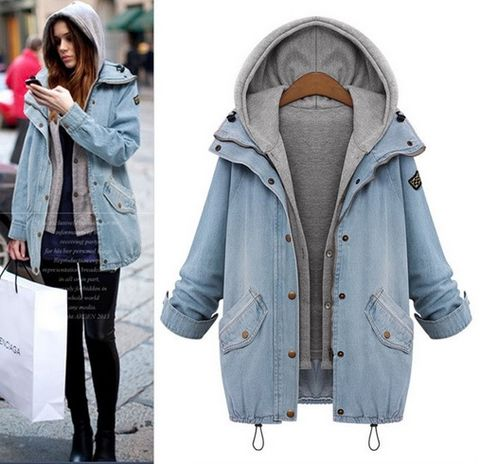 Denim,Oversize,Autumn,Jacket