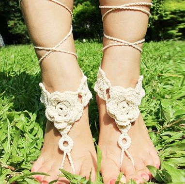 Floral,Lace,Up,Anklet