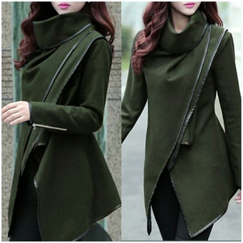 Luxe,Wrap,Jacket,-,Olive