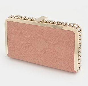Crystal Stud Hand Clutch Coral - product images