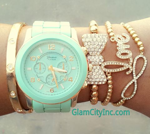 Bella,Mint,Watch,Set