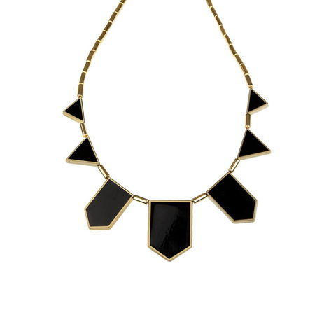 Black,Tribal,Necklace,(IN,THE,STYLE,OF,KHLOE,KARDASHIAN),black tribal necklace, triangle necklace, choker necklace, dollface london