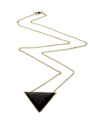 Black,Triangle,Pendant,Necklace,(AS,SEEN,IN,NOTEBOOK,MAGAZINE),black triangle pendent necklace, black triangle necklace, triangle necklace, dollface london