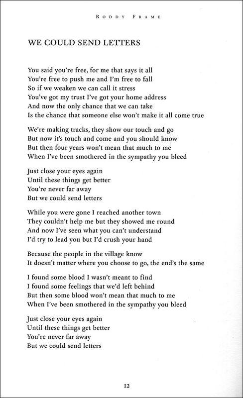 The Lyrics: Roddy Frame - AED