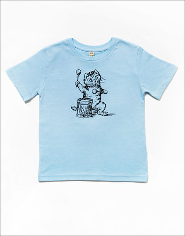 The,Postcard,Cat,Junior,Tee,(light,blue),Postcard Cat, Kids T-shirts, Postcard records