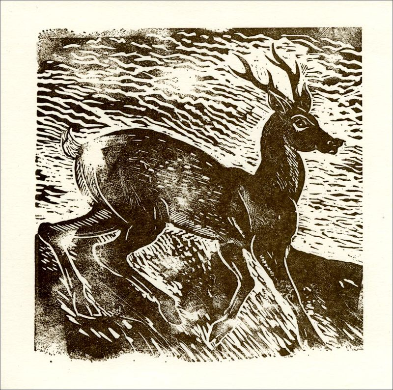 The Roe Deer Cards - Letterpress  Cards Pack - product images