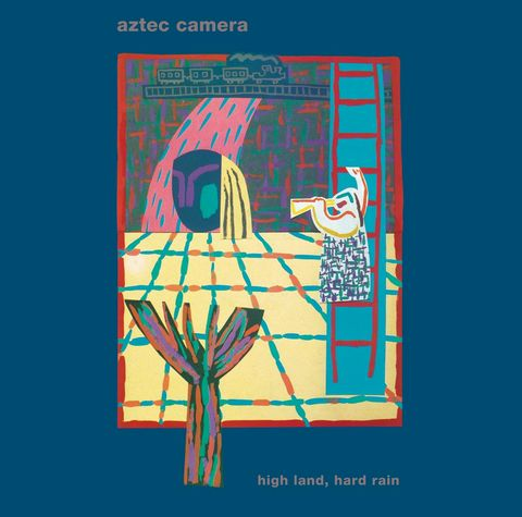 Aztec,Camera:,High,Land,,Hard,Rain.,Gatefold,LP,and,7,EP,,with,limited,edition,Giclee,print,of,cover,High Land, Hard Rain; Aztec Camera