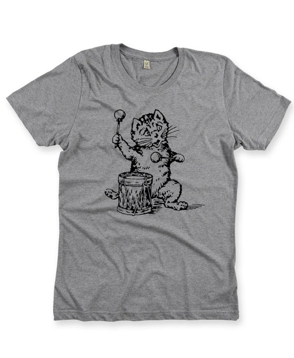 The Postcard Cat T-Shirt in Melange Grey - product images