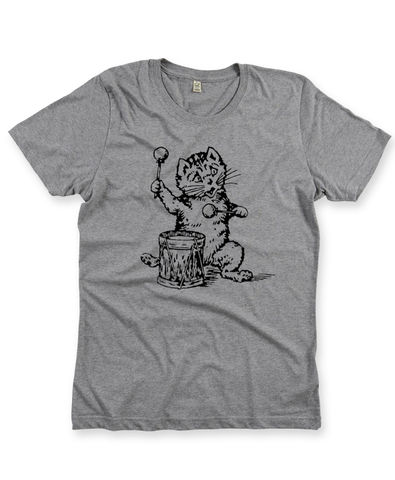 The,Postcard,Cat,T-Shirt,in,Melange,Grey,Postcard Cat T-shirt,  Postcard Records, Edwyn Collins
