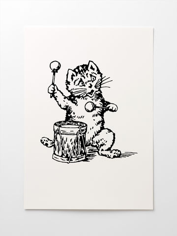 The,Postcard,Cat,Giclée,Print:,A3,Edwyn Collins print, Edwyn Collins Postcard Cat