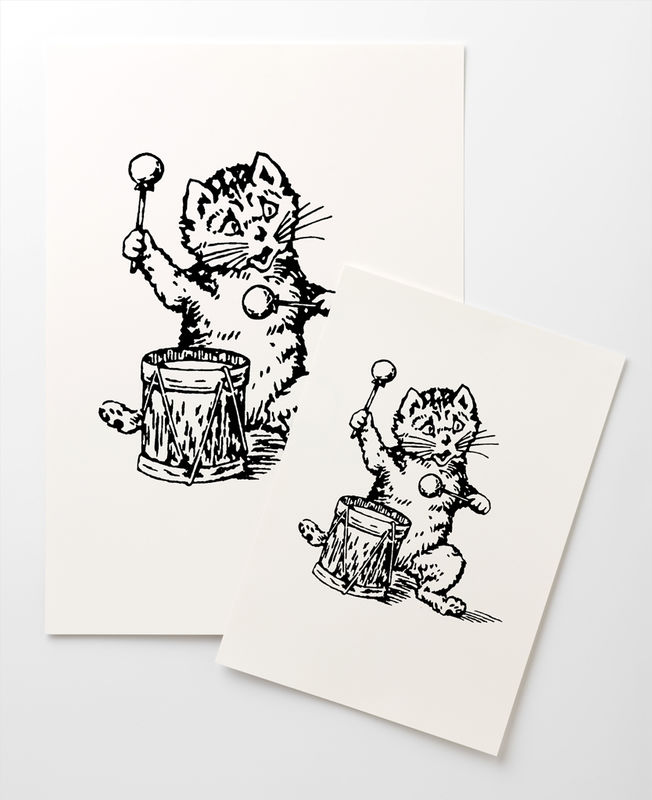 The Postcard Cat Giclée Print: A4 - product image