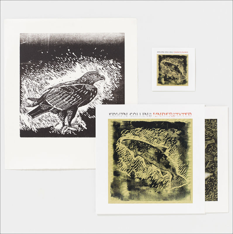 Understated LP and Golden Eagle Letterpress Print - product image