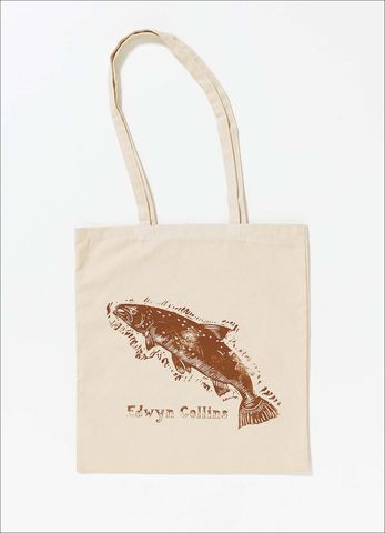 The,Leaping,Salmon,Tote,Bag,Edwyn Collins, Understated, Salmon, Tote