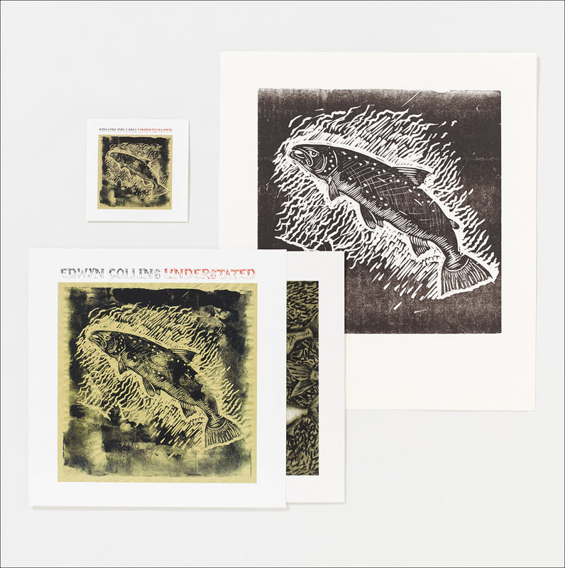 Understated LP and set of two Salmon and Golden Eagle Letterpress Prints - product image