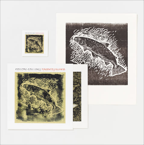 UNDERSTATED,LP,and,set,of,two,Salmon,Golden,Eagle,Letterpress,Prints,Salmon and Golden Eagle Letterpress Prints, Understated vinyl LP