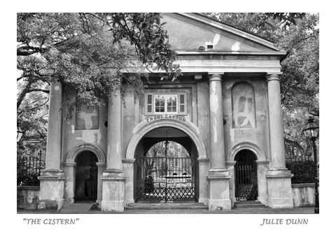 The,Cistern, College of Charleston, photography, photos, black and white, Charleston