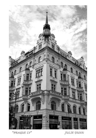 Prague,LV,Prague, Czech Republic, Louis Vuitton, archtectue, buildings, black and white photography, B&W photos