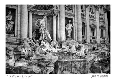 Trevi,Fountain,Trevi Fountain, Rome Italy, Black and White Photography, Fine Art Photography