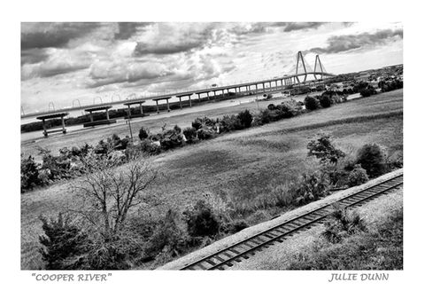 Cooper,River,Cooper River, Cooper River Bridge Run, Charleston Harbor, photography, photos, black and white, Charleston