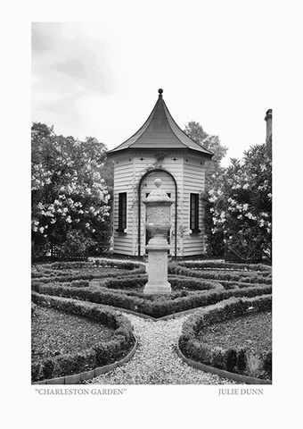 Charleston,Garden,Black and White Photograph; Charleston; B&W photos; garden