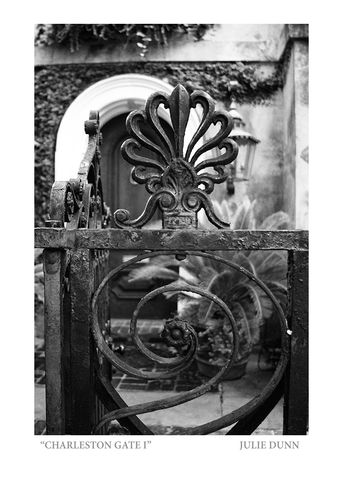 Charleston,Gates,I,Black and White Photograph; Charleston; B&W photos; garden