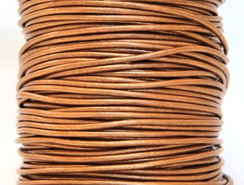 Round,Leather,Cord,Metallic,Bronze,Color,2,mm,Diameter,(Length:,5,Yards),Supplies,dyed leather cord,round leather cord,beading supply,wrap bracelet cord,round cord,2 mm cord,bronze cord,metallic cord,bronze leather cord