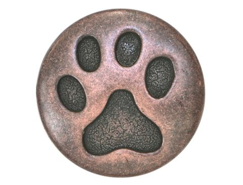 Cat,Paw,3/4,inch,(,20,mm,),Metal,Button,Supplies,metal button,shank button,metal shank button,buttonjones,button jones,pewter shank button,claw button,cat paw button,cats paw button,cat claw button,copper cat paw