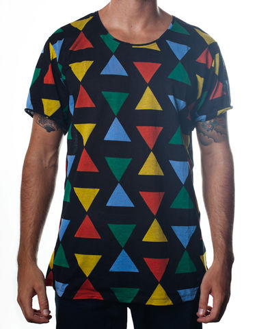 Nemis,Triangle,Tee,Black,Clothing,Tshirt,bold,geometric,retro,graphic,printed,black,fashion,womens,mens,tshirt,tee,80s,cotton