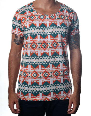 Nemis,Aztec,Tee,Green,Clothing,Tshirt,geometric,aztec,native,tribal,bold,graphic,printed,fashion,womens,mens,tshirt,tee,fall,supima,cotton,40s